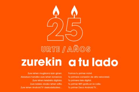 Euskaltel cumple 25 años.