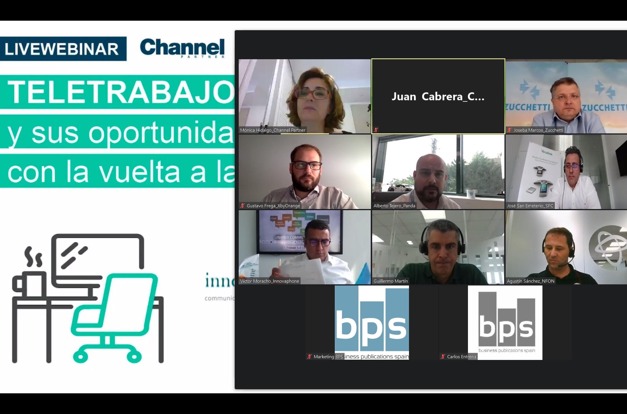 Webinar sobre teletrabajo en CHANNEL PARTNER (julio 2020).