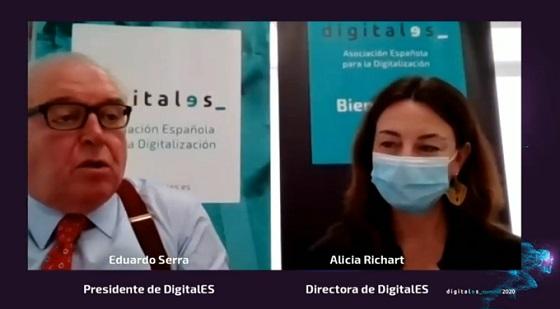 Presentación de DigitalES Summit 2020. Eduardo Serra y Alicia Richart.