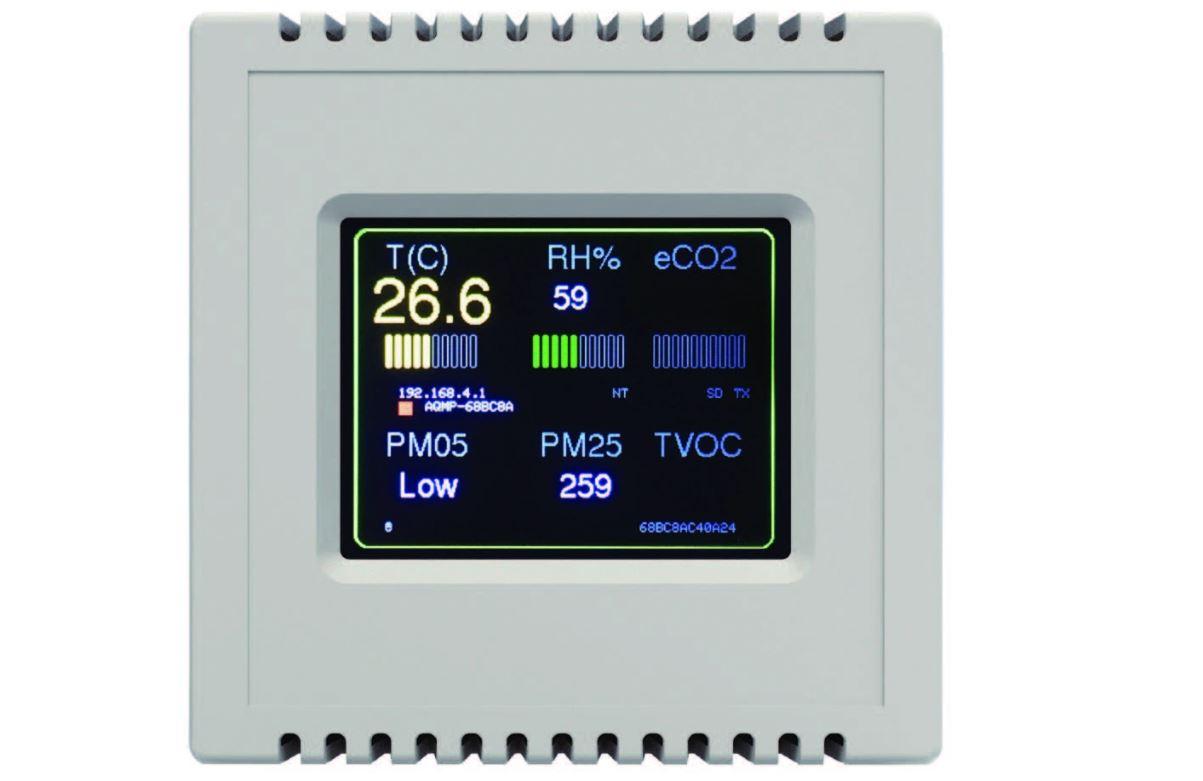 Dispositivo de IAconnects para controlar el aire de las oficinas.