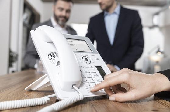 Teléfono IP de Snom.