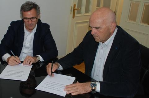 El socio director de UBT Compliance Services, Óscar López Rodríguez, y el Presidente de Autelsi, Leandro Pérez Manzanera