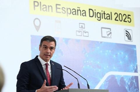 Pedro Sánchez, presidente del Gobierno, en la presentación del plan.