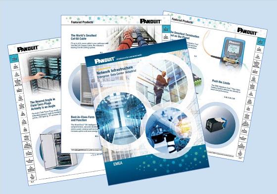 Nuevo catálogo de Panduit de soluciones de infraestructura de red.