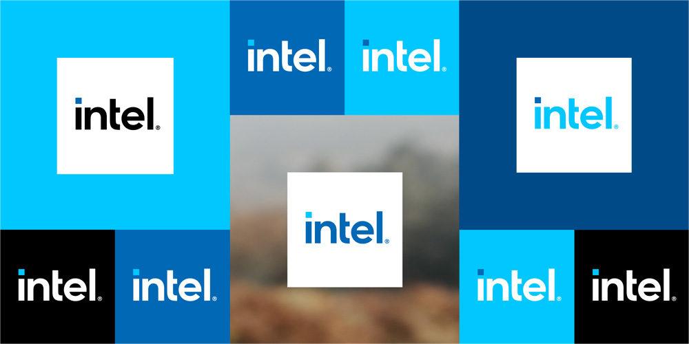 Nuevo logo de Intel.