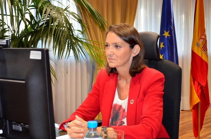La ministra de Industria, Comercio y Turismo, Reyes Maroto, ha inaugurado la última jornada del 34º Encuentro de la Economía Digital y las Telecomunicaciones