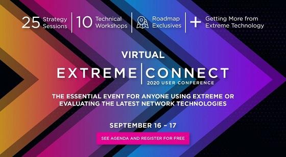 Extreme Connect Virtual: 16 y 17 de septiembre.