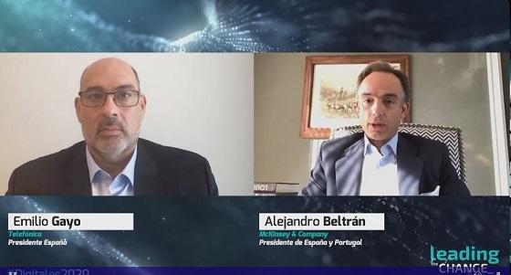 Charla de Emilio Gayo, Telefónica España, con Alejandro Beltrán, McKinsey en DigitalES 2020.