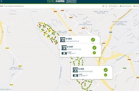 App desarrollada para monitorizar la red de suministro y el consumo de agua en Monte Alina (Pozuelo de Alarcón).
