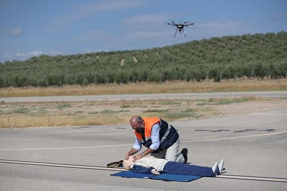 Primer vuelo de un dron de emergencias controlado por 5G.