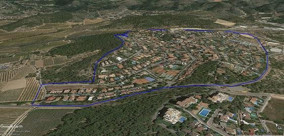 Urbanización Vallpineda, ubicada entre los municipios de Sitges y Sant Pere de Ribes.