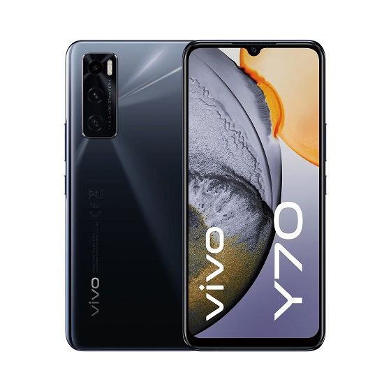 vivo Y70 Gravity Black.