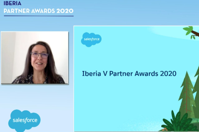 Ana Vertedor, durante los Iberia Partner Awards 2020.