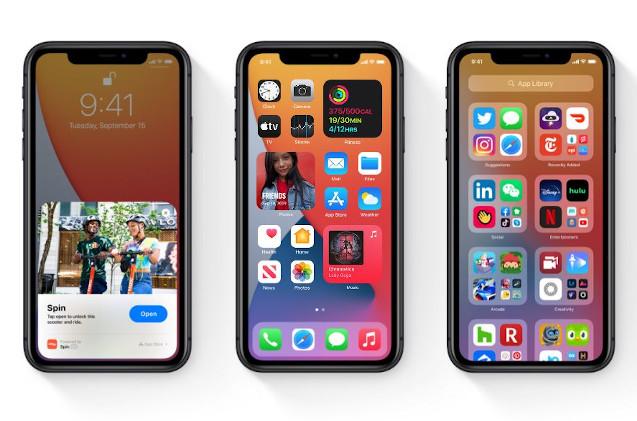 Nuevo iOS14 en el iPhone.