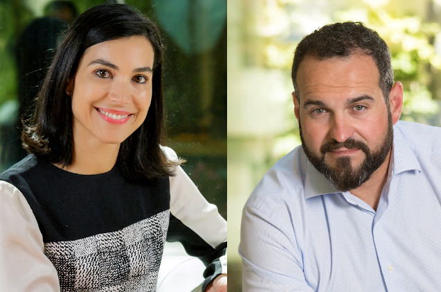 Carolina Castillo y Santiago Oller, de Microsoft.