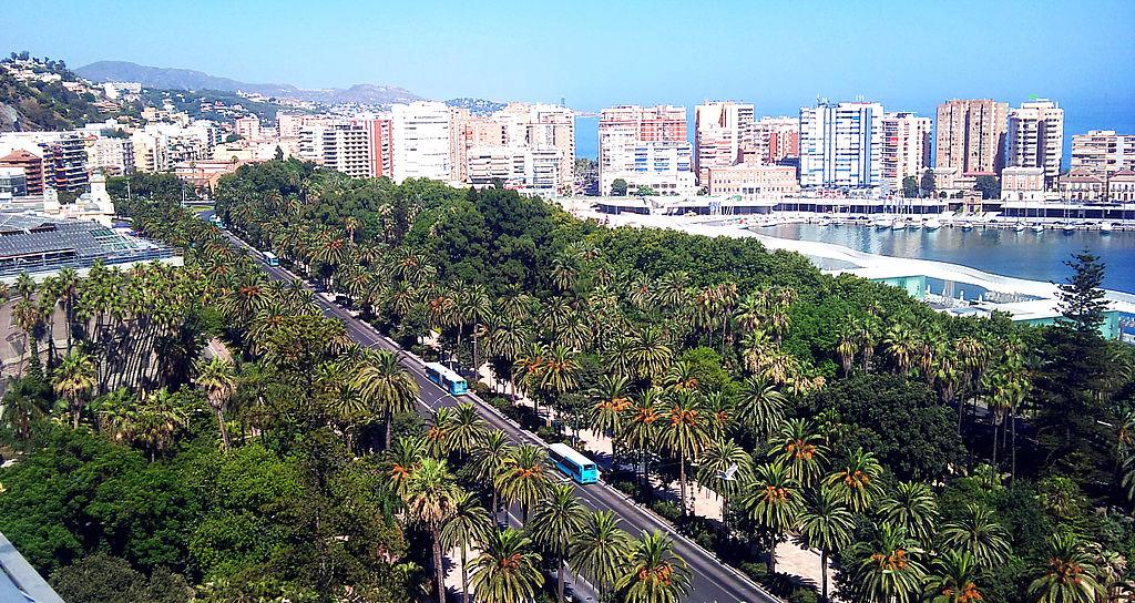 Aspecto de la ciudad de Málaga (Wikimedia Commons).
