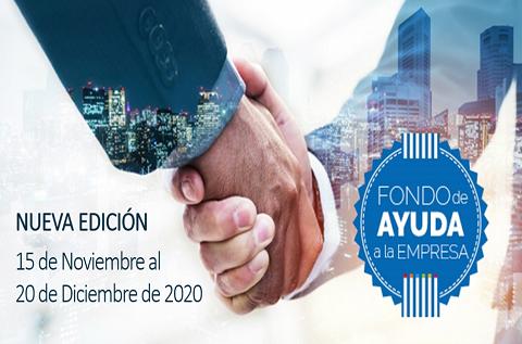 Nueva edición del Fondo de Ayuda a la Empresa de Zucchetti Spain: del 15 de noviembre al 20 de diciembre de 2020.