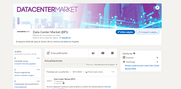 Data Center Market abre perfil de LinkedIN