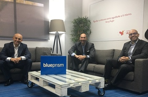 Equipo directivo de Blue Prism Iberia.