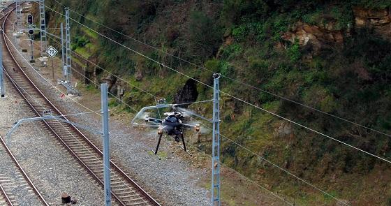 Inspección remota de las vías ferroviarias con 5G y drones.