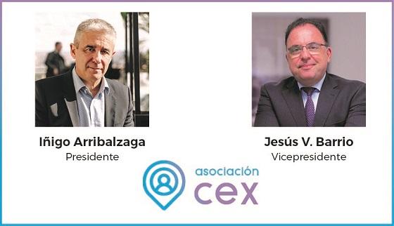 Presidente y vicepresidente de la Asociación CEX.