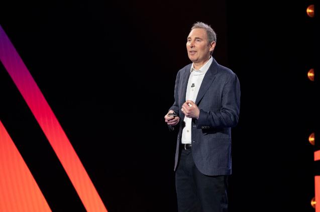Andy Jassy, CEO de AWS, en el reinvent 2020.