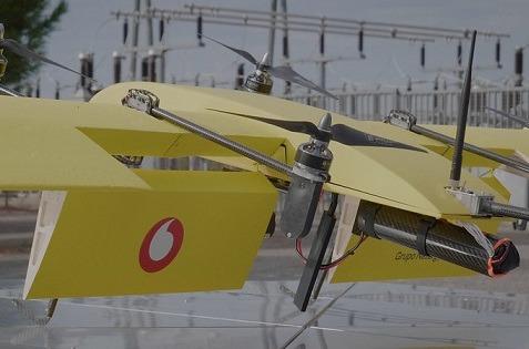 Inspección de redes eléctricas con drones.