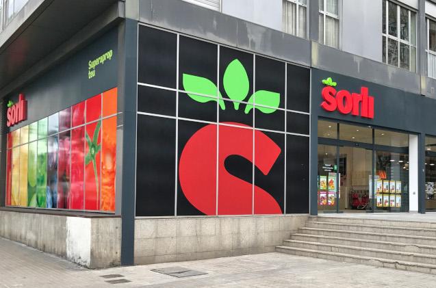 Supermercado de la cadena Sorli.