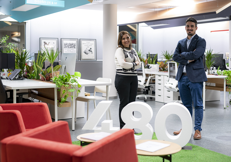 Carmen Ramos (Fama Systems) y Alfredo Cebrián (Cuatroochenta)