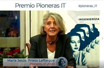 María Jesús Prieto-Laffargue recibe el Premio Pioneras_IT 2020 del COIT.