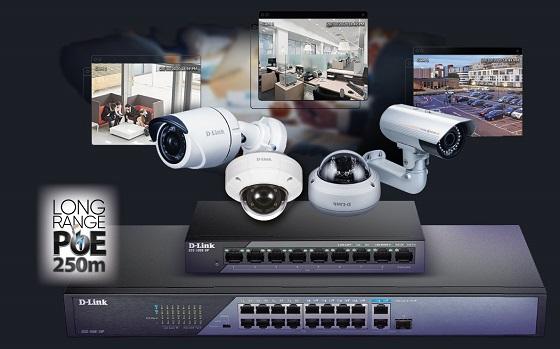 Switches D-Link dirigidos a videovigilancia con el nuevo PoE Long Range.