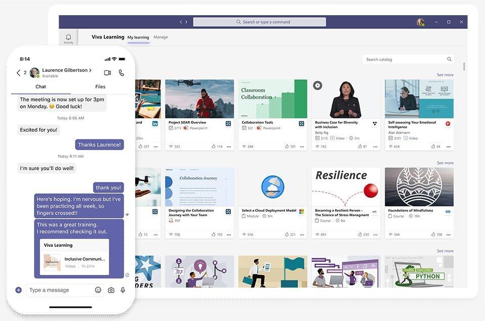 Captura de Microsoft Viva.