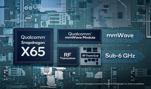 Qualcomm Snapdragon X65 de cuarta generación: primer sistema de módem-RF de 10 gigabits.