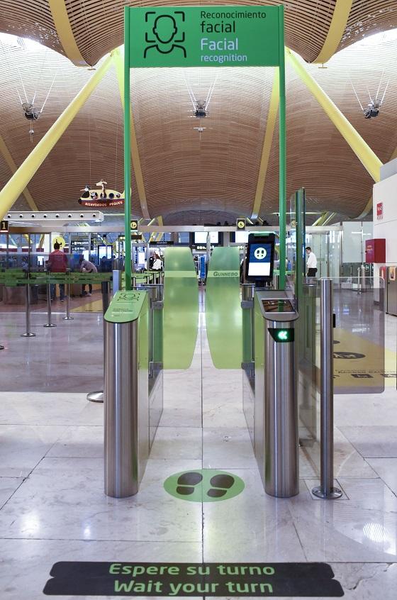 Filtro de seguridad en el Aeropuerto Adolfo Suarez Madrid-Barajas.