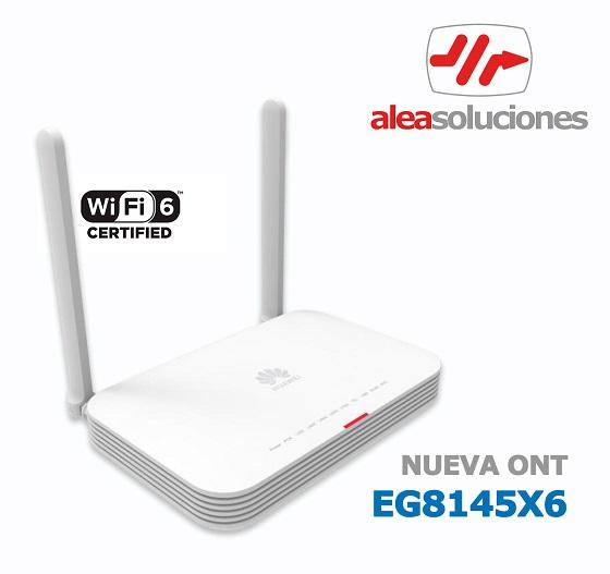 Nueva ONT Wi-Fi 6 para redes GPON de Huawei.