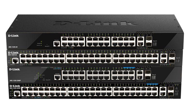 D-Link DGS-1520 Switches Smart Multigigabit Stacking L3.
