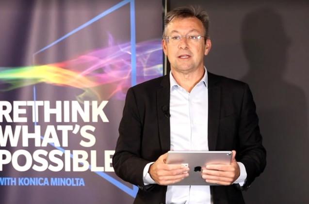 Eduardo Valdés, director comercial de Konica Minolta