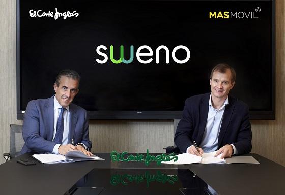 Firma del acuerdo entre MásMóvil y El Corte Inglés para crear Sweno.