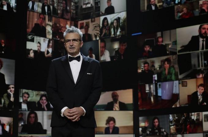 Mariano Barroso, Presidente de la Academia de las Artes y las Ciencias Cinematográficas de España, durante los Premios Goya 2021