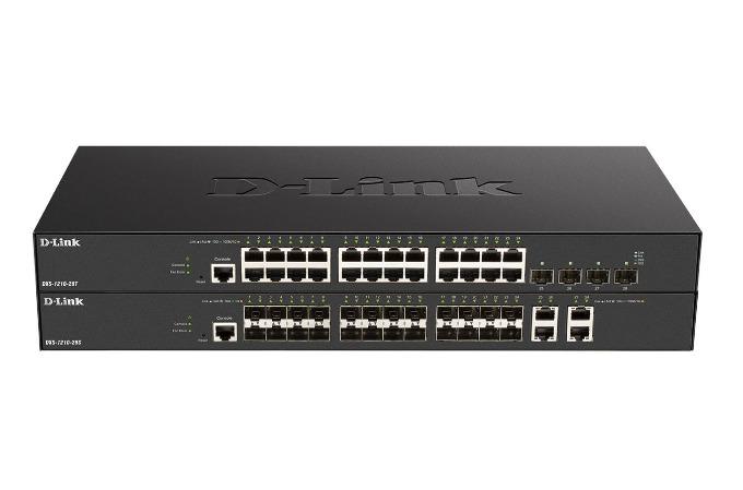 Switches 10 Gigabit Smart Managed D-Link DXS-1210-28S y DXS-1210-28T.
