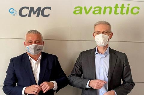 A la dcha Jaime Hortelano, pte y CEO de Grupo CMC junto a Jesús García, CEO de avanttic, a la izqda