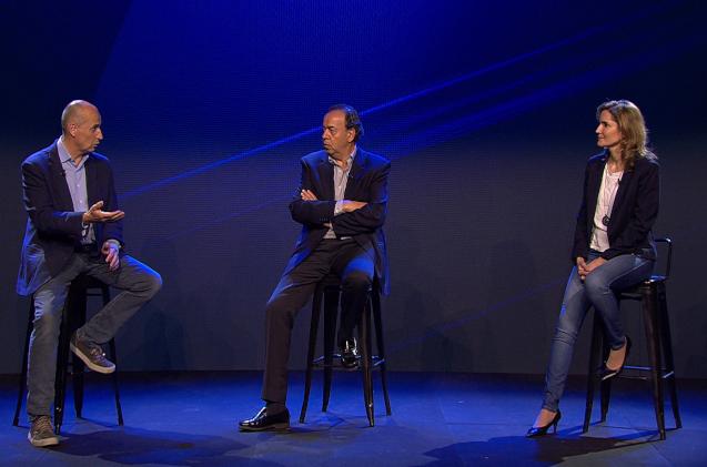 Nacho Martín, Ricardo Labarga y Beatriz Ordoñez, de Dell.