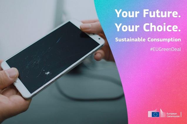 """Campaña de la Comisión Europea """"Tu futuro. Tu elección""""."""