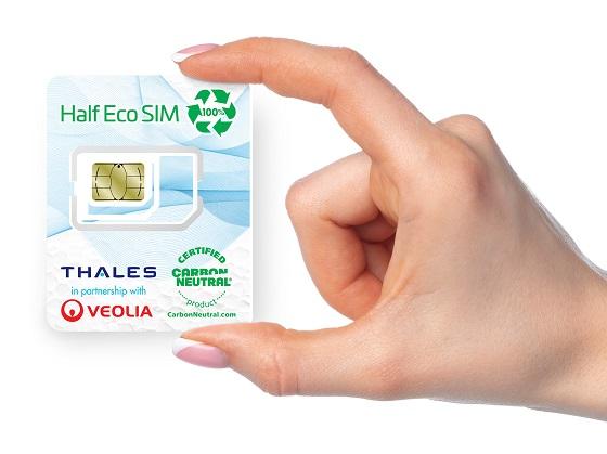 Tarjeta SIM hecha de frigoríficos reciclados.